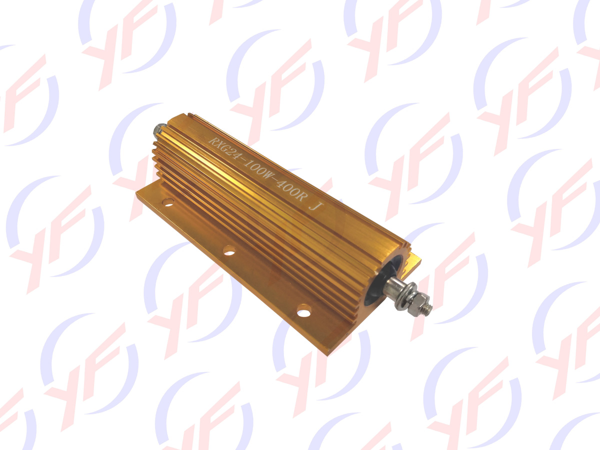 RX24 golden aluminum housed fixed power resistor