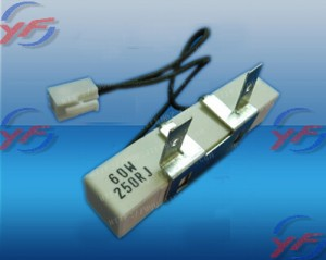 Cement resistors with plug-in wire