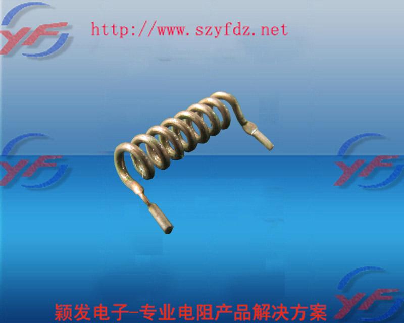 Spring-style Current sampling resistor