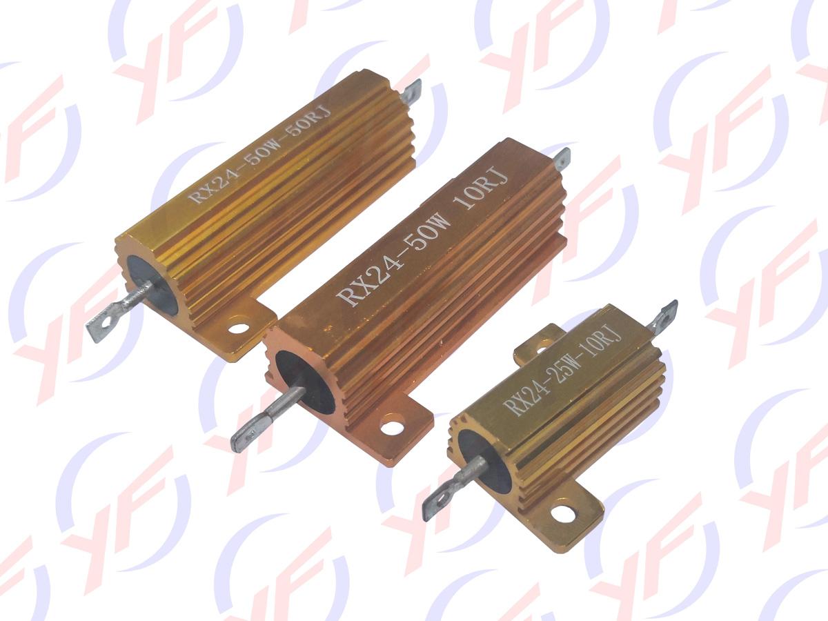 RX24金色铝外壳电阻器